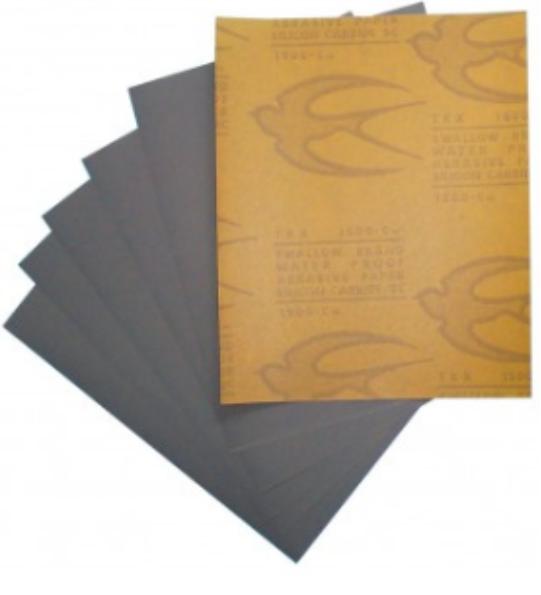 #1500 กระดาษทรายน้ำ ตรานกนางแอ่น 100 แผ่น