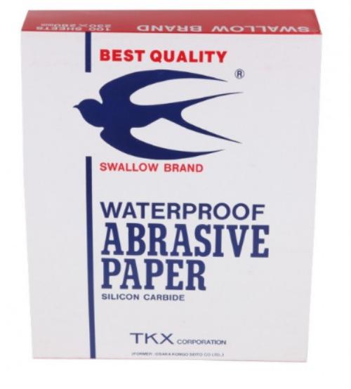#1000 กระดาษทรายน้ำ ตรานกนางแอ่น 100 แผ่น
